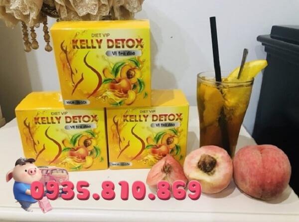 Trà Đào Giảm Cân KELLY DETOX Hộp 15 gói, hàng chính hãng giá rẻ