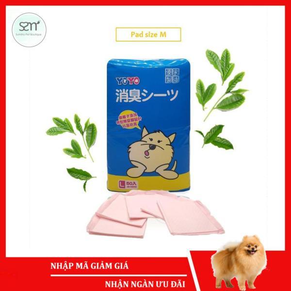 5 cái Tã lót vệ sinh chó mèo size M (45x60cm) (có mùi hương) Sumiho công nghệ Ý