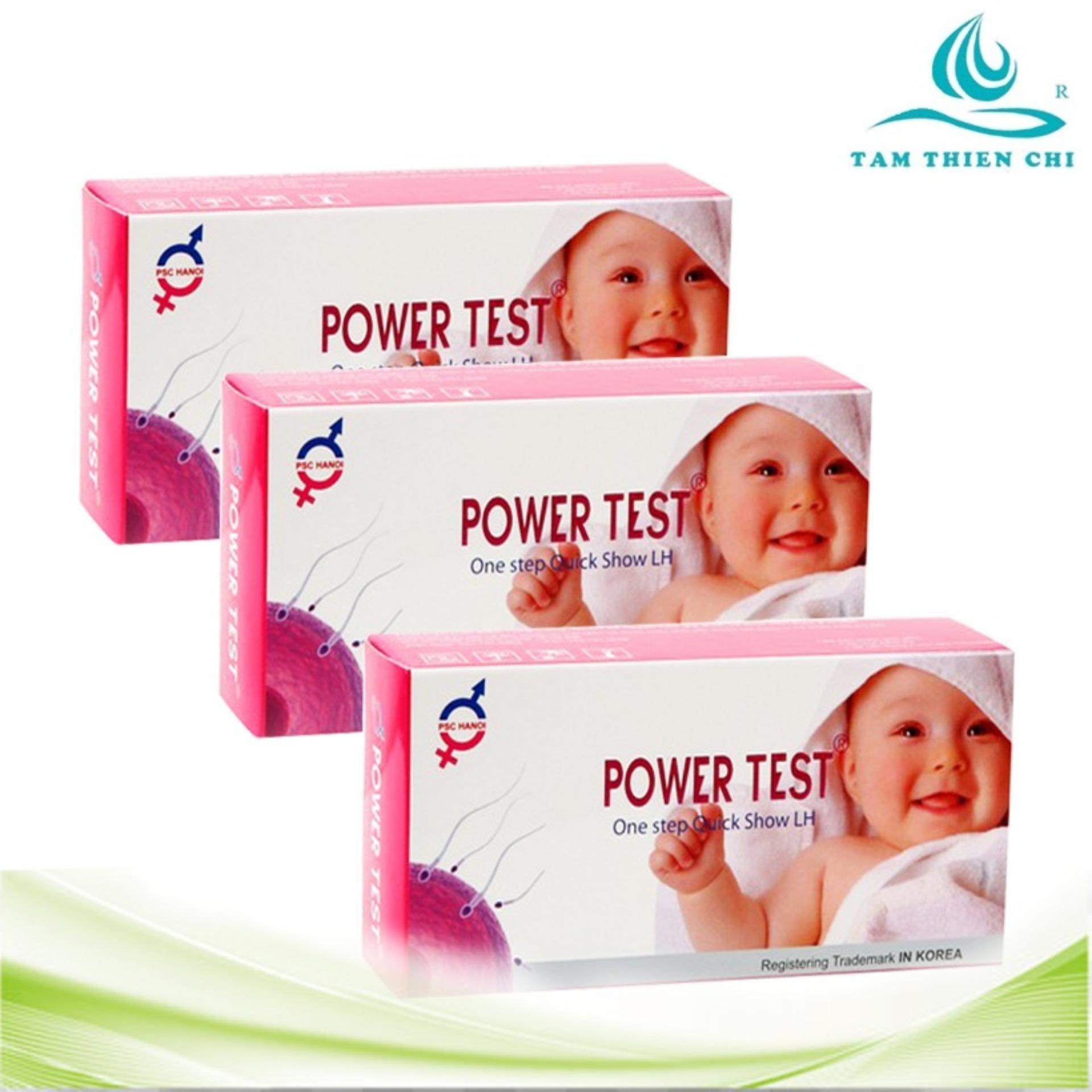 Bộ 3 hộp Que thử rụng trứng Powertest 5 que nhập khẩu