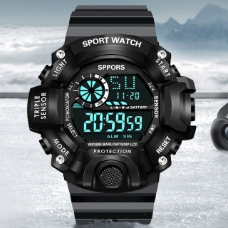 Đồng hồ nam điện tử SPORT K8189 dây NHỰA silicon -đồng hồ chức năng xem giờ điện tử , báo thức, bấm giờ thể thao dây nhựa silicon cao cấp thumbnail