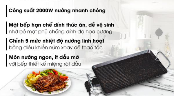 Bếp nướng điện Kangaroo KG 699G 2000 W