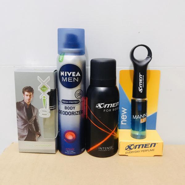 Mua trọn bộ 4 món dành cho nam - Tặng 5 gói dầu gội clear 6g gồm : 1Chai Xịt Toàn Thân NIVEA MEN 120ML + 1 Chai xịt khử mùi xmen 40ml + 1 chai nước hoa cao cấp Xxis 10ml + 1 chai nước hoa Xmen Mann Up 22ml