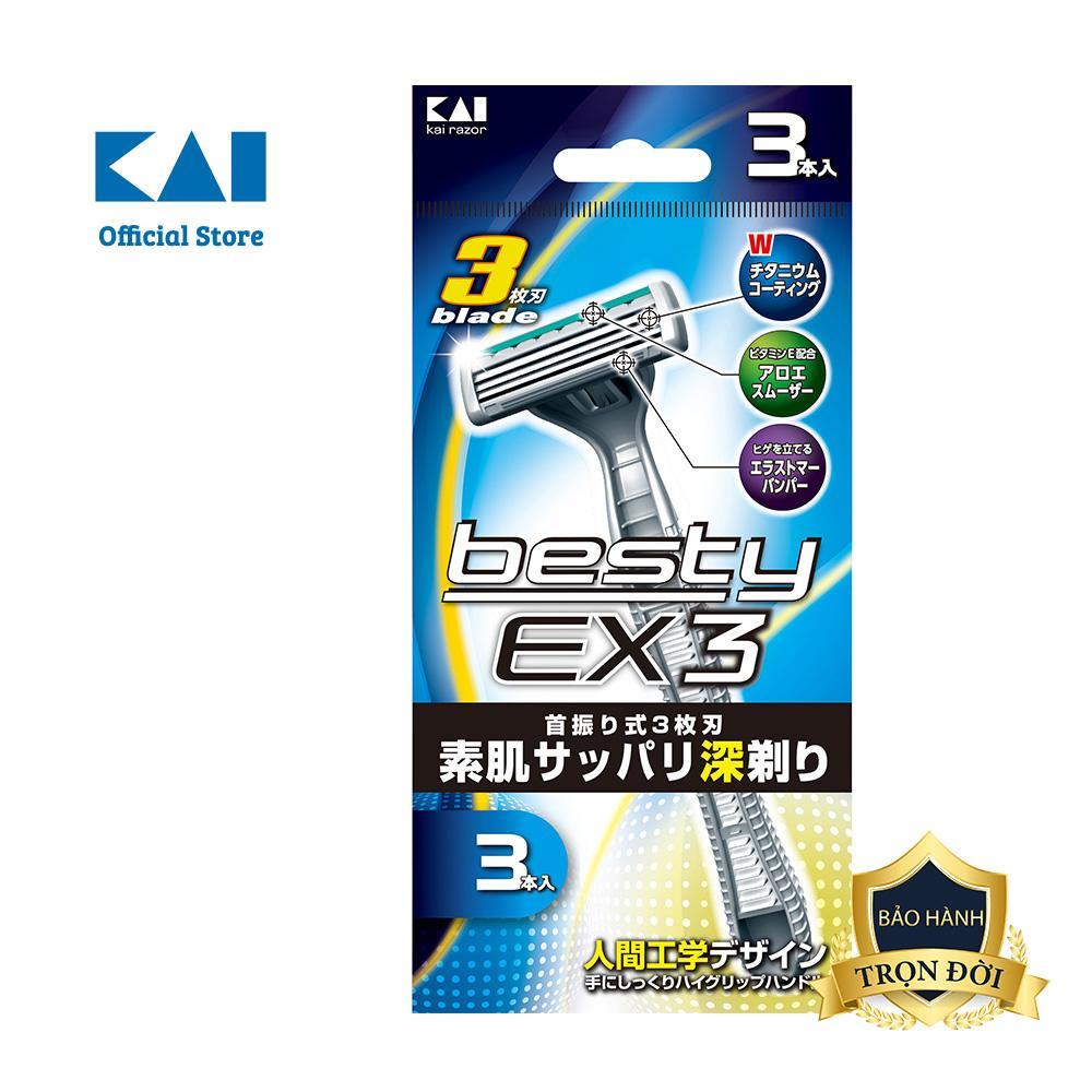Dao cạo râu cao cấp Nhật Besty Ex3 3 Blade tốt nhất
