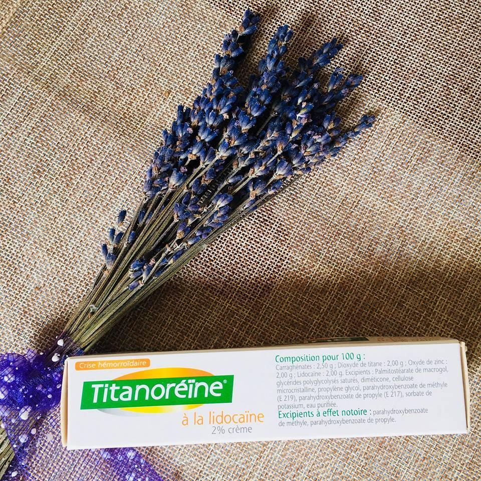 Kem bôi trị trĩ ngoại - Titanoreine 40gr Pháp (Tindi Lavender)