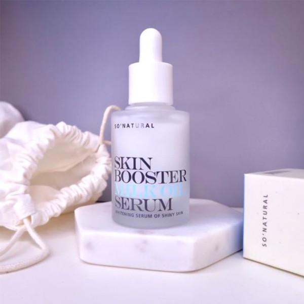 Tinh Chất Kích Trắng Da So'Natural Skin Booster Milk Oil Serum