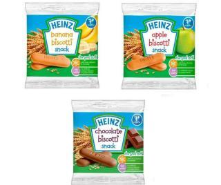 Bánh Ăn Dặm Heinz ít Đường Nhiều Vị 7+Táo - Chuối - Xoài Mơ - Chuối Dâu Date 2021 thumbnail
