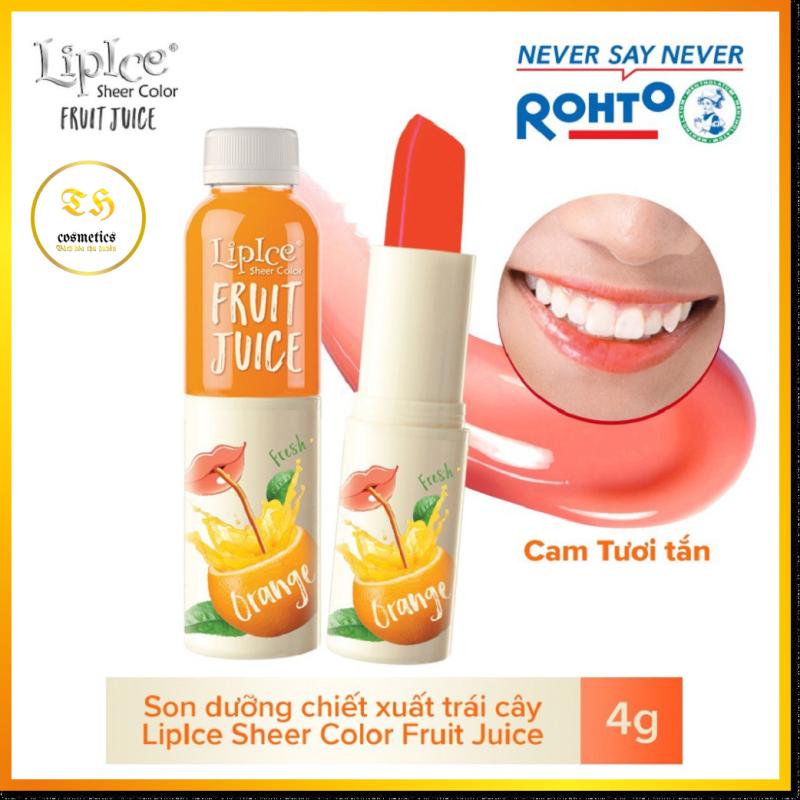 Son Dưỡng Môi Lipice Chiết Xuất Trái Cây Màu Cam 4g Sheer Color Fruit Juice