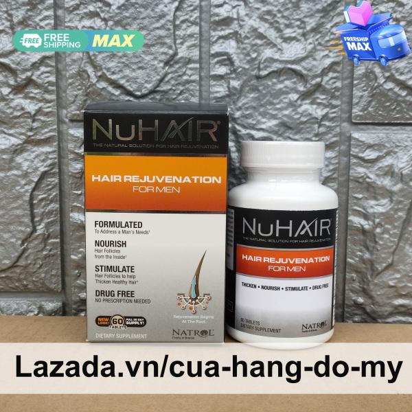 Viên uống Natrol NuHair Hair Rejuvenation for Men 60 viên của Mỹ - hỗ trợ mọc tóc, ngăn ngừa rụng tóc ở nam giới Nu Hair