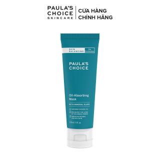 Mặt nạ đất sét kiểm soát và hấp thu dầu thừa dành riêng cho da dầu và hỗn hợp Paula's Choice Skin Balancing Oil-Absorbing Mask 118ml-2750