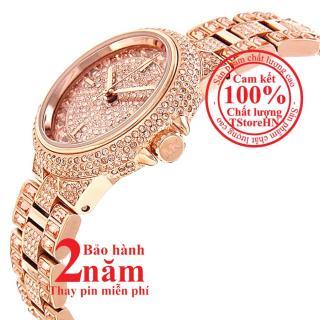 Đồng hồ nữ MK Camile MK5948 - Vỏ, mặt và dây màu Vàng hồng (Rose Gold), mặt đồng hồ và viền nạm đá pha lê Swarovski, size 33mm thumbnail