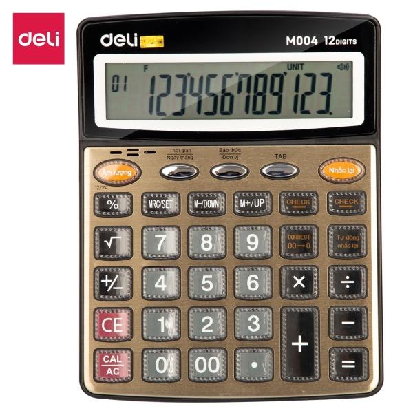 Mua Máy tính nói 12 số Deli - phím phủ Acrylic - Vàng đồng - 1 chiếc - EM00450