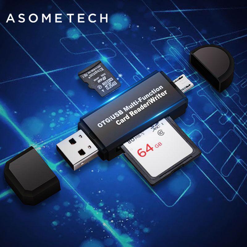 Giá Đa năng tốc độ cao 2 trong 1 USB 2.0 Đầu đọc thẻ flash OTG Ổ đĩa USB Thẻ OTG TF / SD cho điện thoại Android Cổng máy tính mở rộng