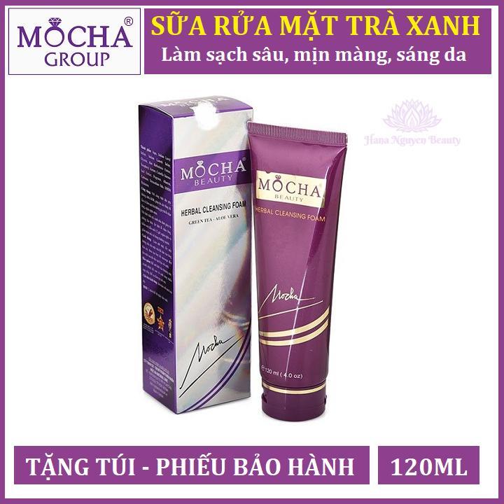 SỮA RỬA MẶT TRÀ XANH MOCHA 120ML - Hana Nguyễn Beauty cao cấp