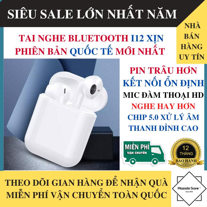 Tai Nghe Bluetooth BL Thế Hệ 12 Phiên Bản 2020 Nút Cảm Ứng Cửa Sổ Kết Nối, Mic Đàm Thoại, Chống Ồn - Tai nghe bluetooth nhét tai , Tai nghe Bluetooth pin trâu