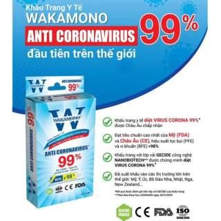 Khẩu trang y tế Wakamono với chất liệu vải không dệt hộp 10 cái thumbnail