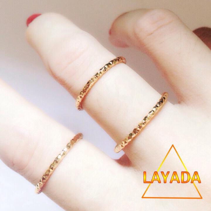 Coupon Khuyến Mãi Nhẫn  Đồng Non Mạ Vàng 18k Siêu Bền ( Không Đen ) - LAYADA