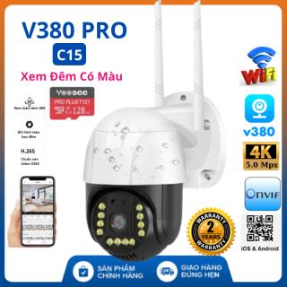 (Tùy Chọn Kèm thẻ nhớ 128GB - bảo hành 5 năm), Camera wifi ptz ngoài trời V380 Pro C15 5.0 Mpx , xoay 360 độ , chống nước tuyệt đối , cảnh báo chuyển động , camera ip ,camera ngoài trời , camera ptz, camera an ninh , camera 360 thumbnail