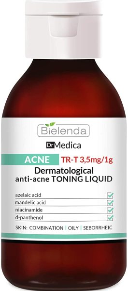 [HCM]Toner giảm mụn giảm thâm Bielenda Dr Medica Dr Medica Acne Dermatologic Anti-Acne 250 ml nhập khẩu