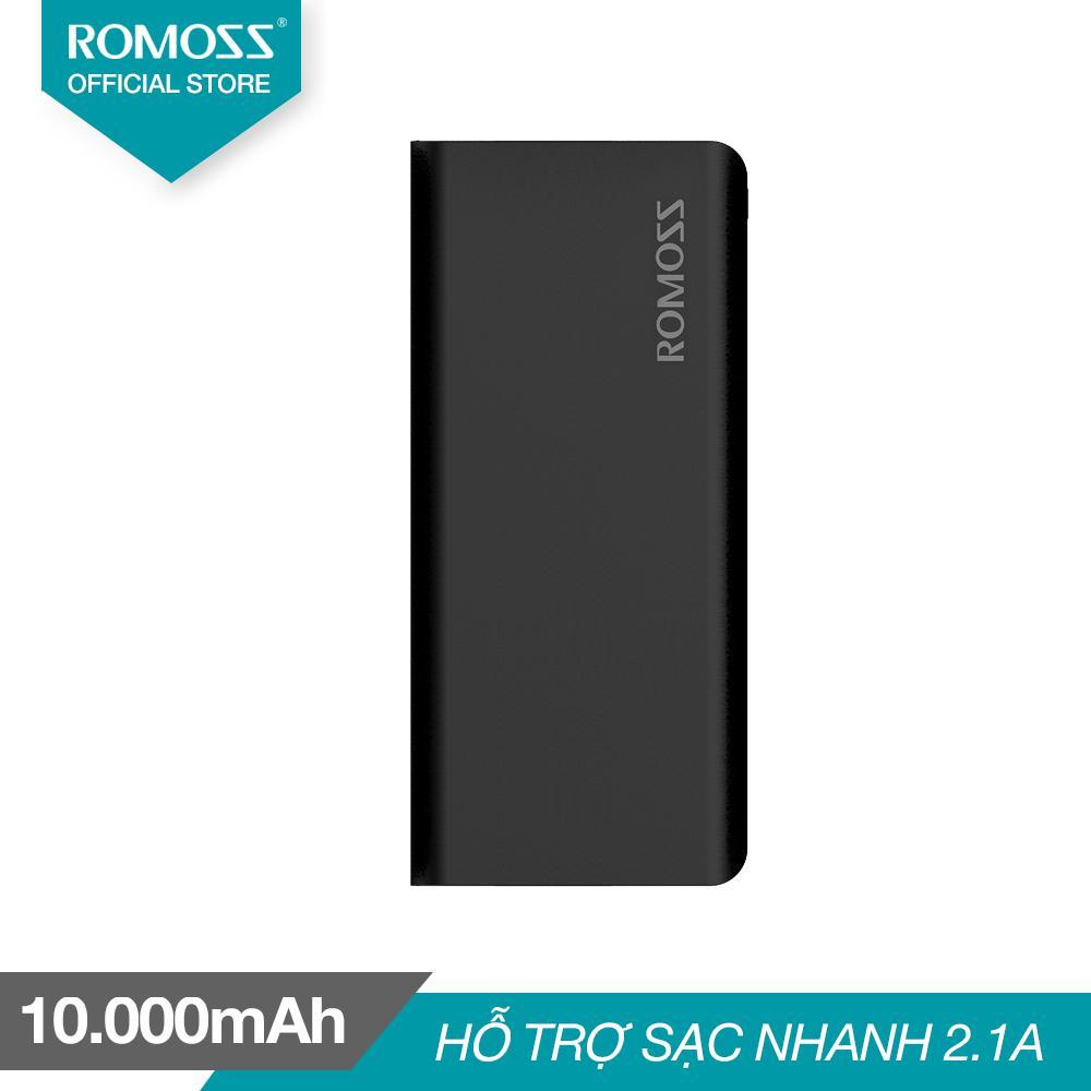 Pin sạc dự phòng 10.000mAh Romoss Solit 5 (Đen) - Hãng phân phối chính thức