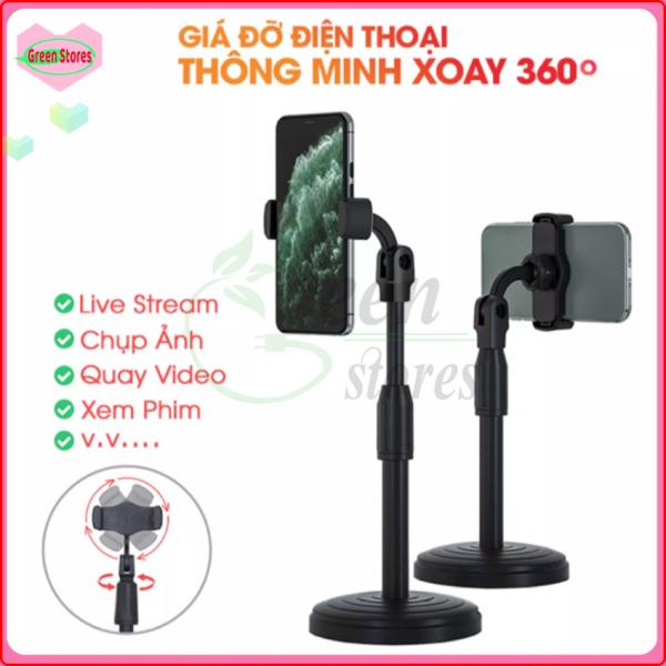 [CHẤT LƯỢNG]-Giá đỡ điện thoại di động GC-K07, máy tính bảng để bàn, có thể điều chỉnh độ cao, xoay 360 độ,giá Livestream, Xem Video [GREEN STORE]