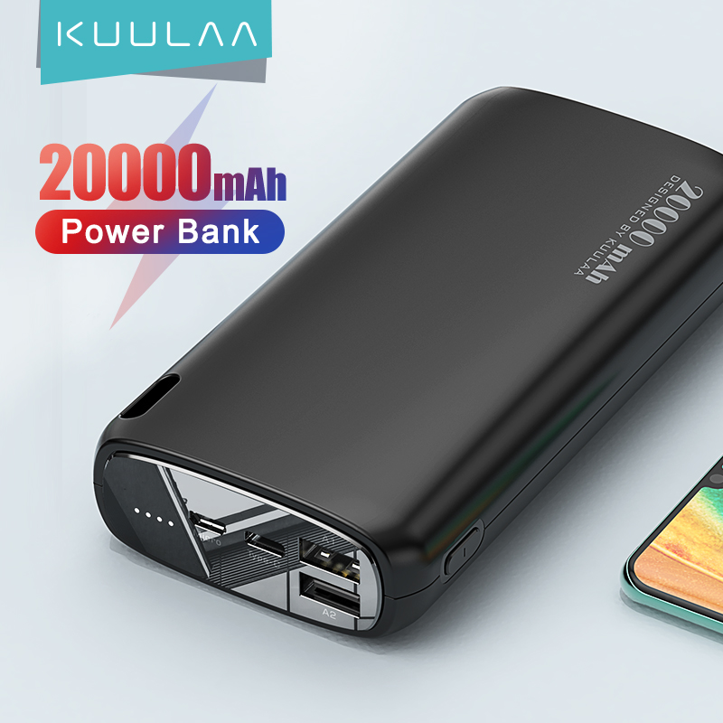 KUULAA pin sạc dự phòng dung lượng 20000mAH dùng cho điện thoại Xiaomi Mi iphone 12/12pro/12 mini iphone 11 pro max iphone 7 phus iphone 6 Samsung - INTL