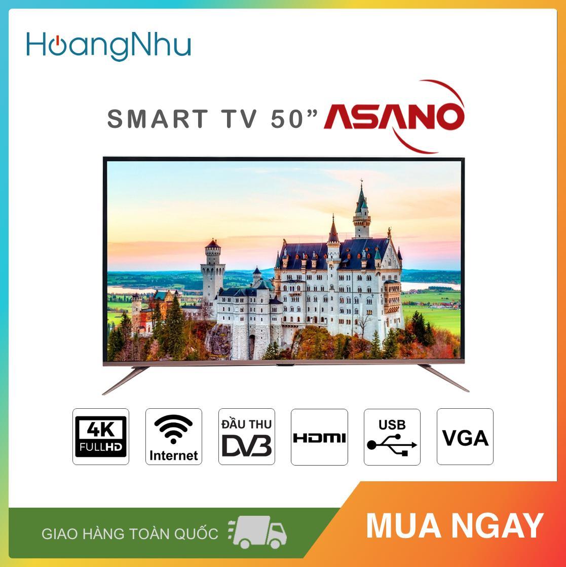 Bảng giá Smart TV UHD 4K Asano 50 inch 50EK3 (Màn hình UHD 4K, Android TV, Wifi, Truyền hình KTS) - Bảo hành toàn quốc 2 năm