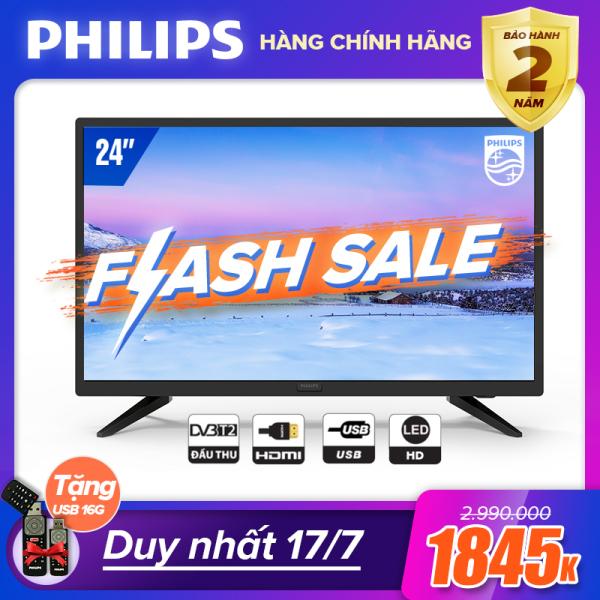 Bảng giá TIVI PHILIPS 24 INCH 24PHT4003S/74 LED HD (DIGITAL TV DVB-T2 - HÀNG THÁI LAN) - TIVI GIÁ RẺ - TẶNG USB CỰC CHẤT 16G - BẢO HÀNH CHÍNH HÃNG 2 NĂM TẠI NHÀ Điện máy Pico