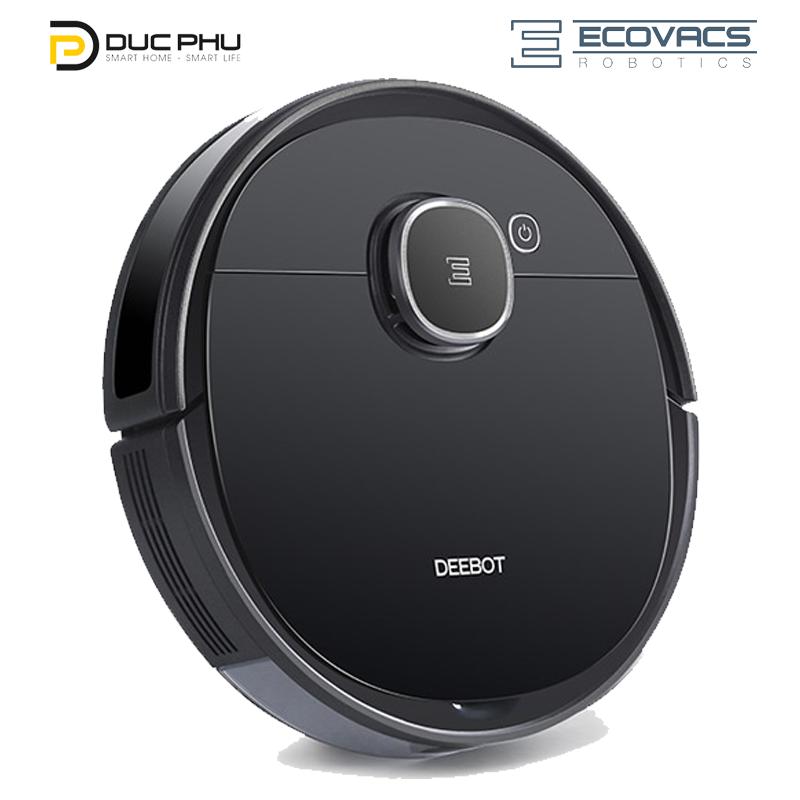 Robot hút bụi lau nhà Ecovacs Deebot DX96(T5 Hero), Pin 5200mAh lưu map nhiều tầng, vừa hút vừa lau đồng thời