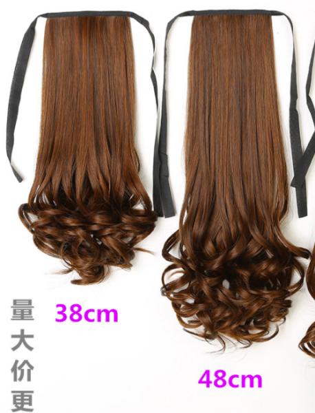 Tóc đuôi ngựa dài 38cm - tóc giả buộc đuôi xoăn - tóc giả xoăn - tóc xoăn giả 38cm cao cấp