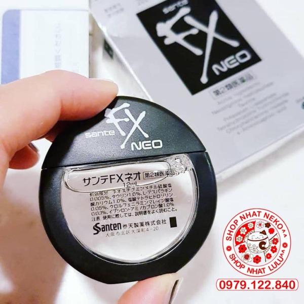 (Màu bạc) Dung Dịch NHỎ MẮT Sante Fx Neo 12ml dành cho mắt cận thị, phục hồi thị lực mỏi mắt Nhật bản