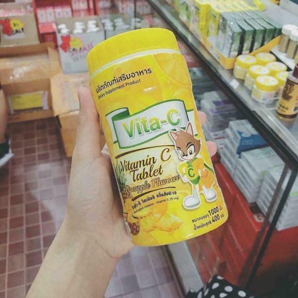 Keo Vitamin C Hủ 1000 viên Thái lan ( Vị Dứa )
