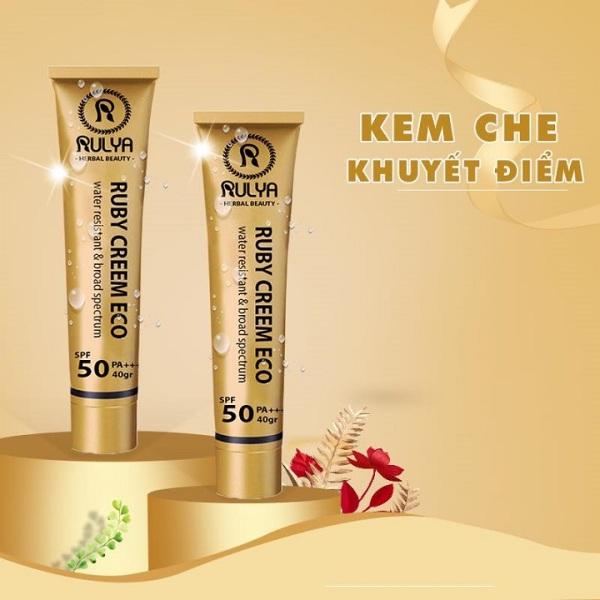 Kem che khuyết điểm Rulya Suncreen Eco độ che phủ cao không thấm nước giữ màu lên đến 24 giờ tốt nhất