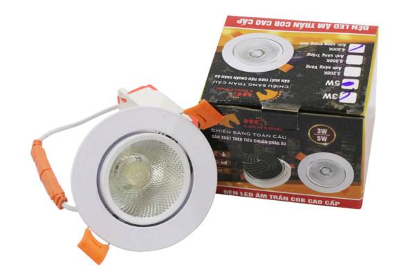 Bảng giá Đèn Spotlight COB âm trần 3w, 5w, 12w, 20w Bảo Hành 2 năm - Đèn Led Âm Trần Siêu Sáng COB HC LIGHTING