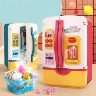 Ready Đồ chơi trẻ em Tủ lạnh Đồ chơi trẻ em Mô phỏng Tủ lạnh Đồ chơi nhà bếp Giả vờ chơi Bộ đồ chơi Trẻ em Chơi nhà Cô gái Đồ chơi Quà tặng thumbnail