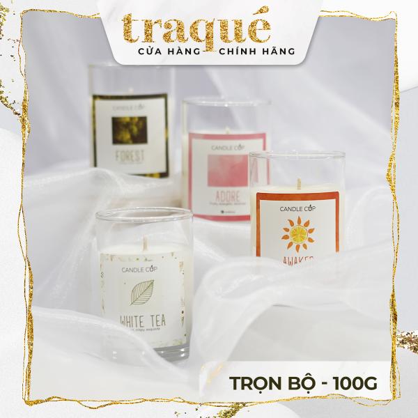 [16 mùi - 100g] Nến thơm Candle Cup tinh dầu cao cấp không khói an toàn giúp thư giãn, khử mùi, thơm phòng và trang trí nhà cửa hoặc làm quà tặng