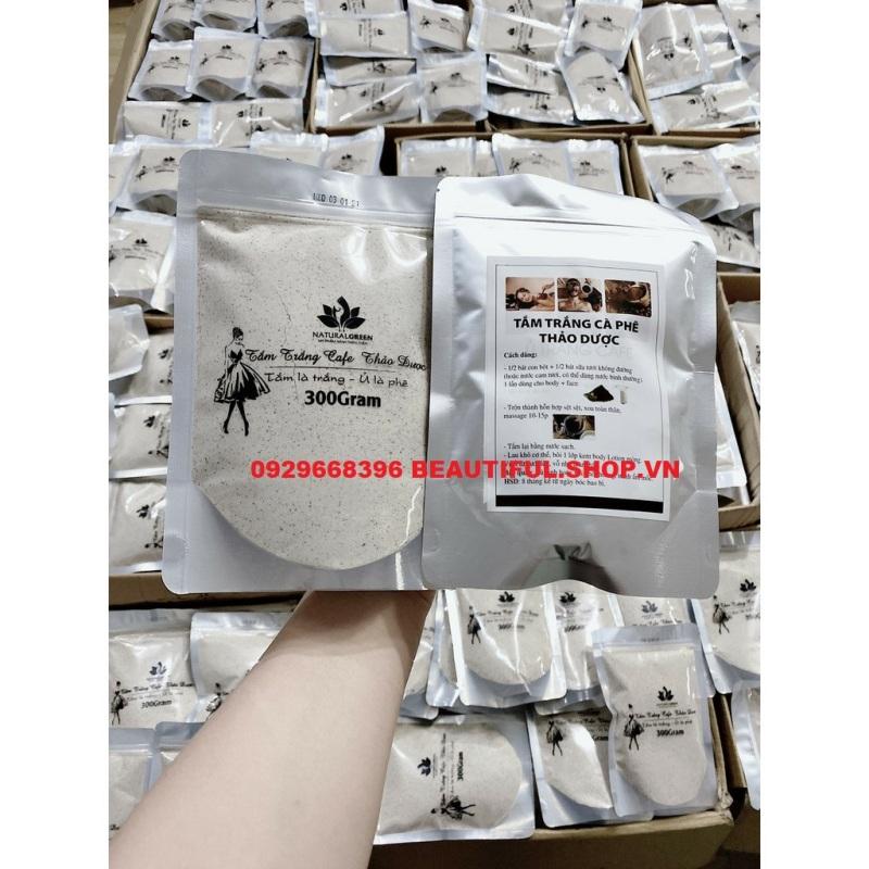 ✔️[100% Chính Hãng] Ủ Trắng Cafe 300gr  Natural Green Bột Tắm Trắng, Tây Tế Bào Chết, An Toàn Tuyệt Đối