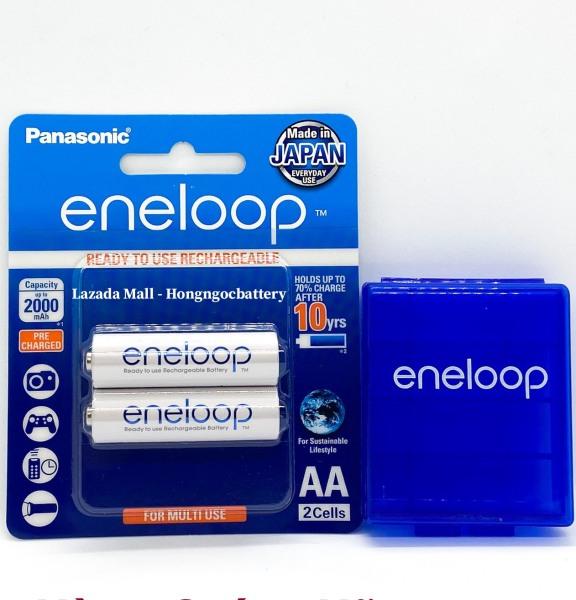 Vỉ 2 Viên Pin Sạc Eneloop AA Made In Japan 2000 mAh - Tặng Hộp Bảo Quản Eneloop
