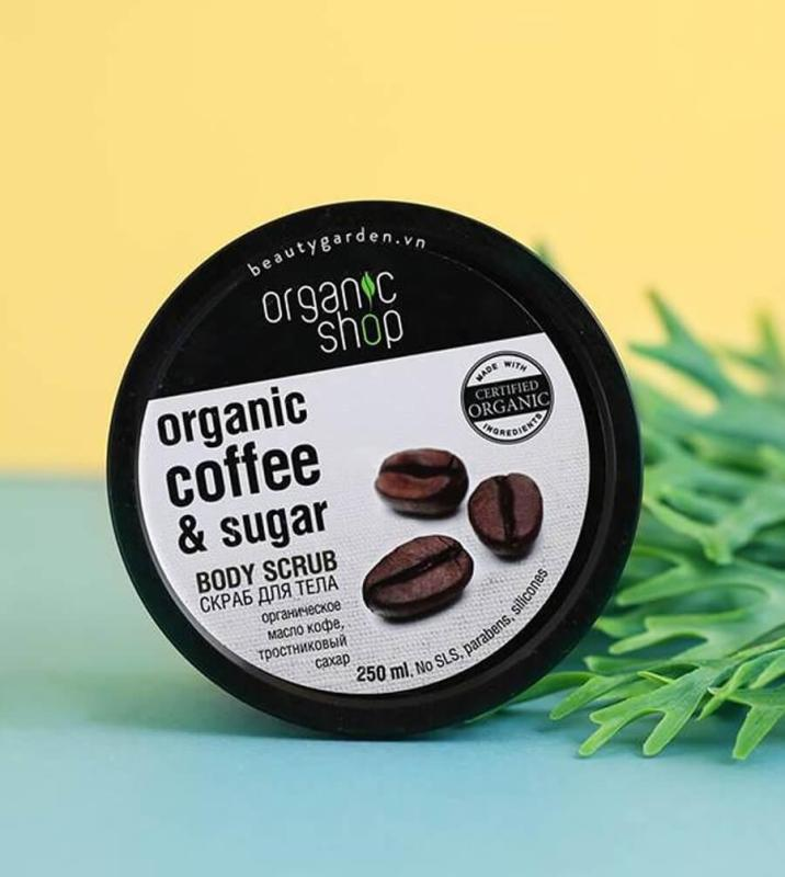 Tẩy da chết toàn thân Organic Shop cà phê