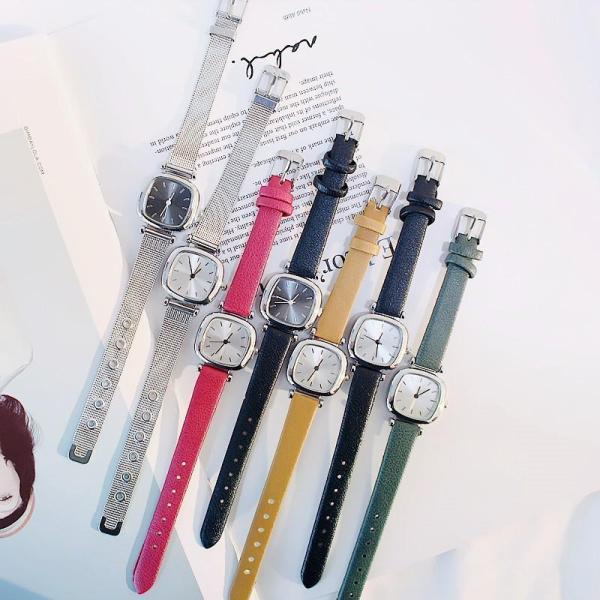 Đồng hồ thời trang nữ Jic dây da và dây thép K3464