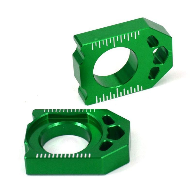 Bảng giá Motorcycle CNC Green Axle Block Chain Adjuster for KAWASAKI KX125 250 03-08 KX250F KXF 250 04-16 KX450F KXF 450 06-16 KLX450R