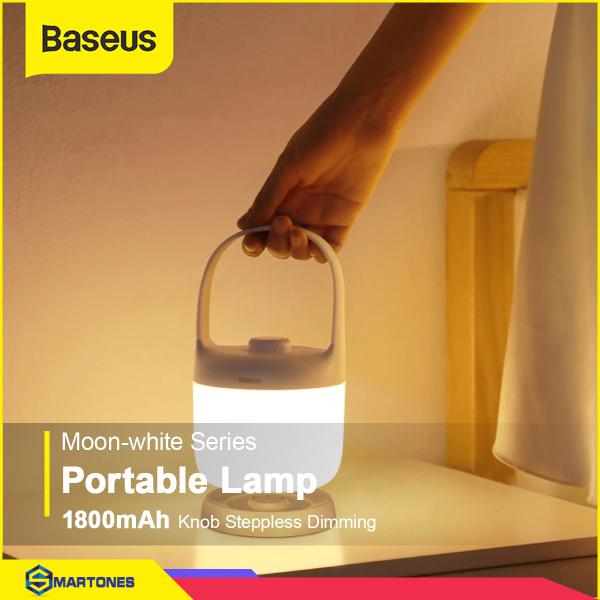 Đèn ngủ Baseus Dimizable LED Night, thiết kế có thể cầm mang theo, pin 1800mah, đế sạc thông minh tích hợp cổng USB sạc cho điện thoại