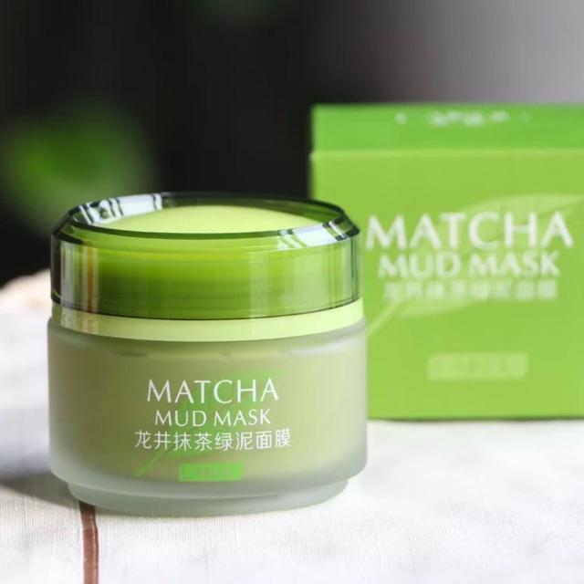 Mặt Nạ Trà Xanh Matcha Laikou Mud Mask Dưỡng Trắng Và Làm Sáng Da Nội ĐỊa Trung