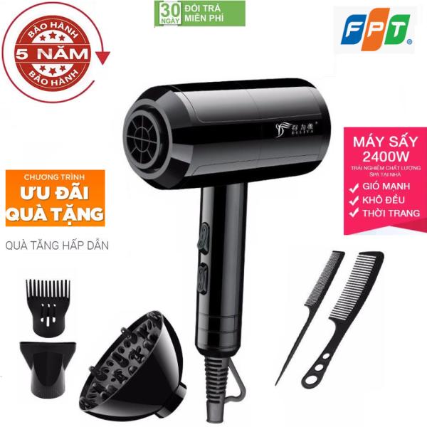 ( Hàng Cao Cấp ) Máy sấy tóc gió 2 chiều nóng lạnh DELIYA 2400w-Phù hợp mọi kiểu tóc Tặng kèm 5 sản phẩm, máy sấy tóc, máy sấy tóc công suất lớn, máy sấy tóc mini, máy sấy tóc tạo kiểu, Máy Sấy Tóc 2 Chiều giá rẻ