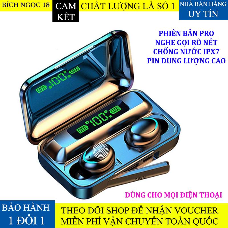 Tai nghe bluetooth BTH F9 5 tai nghe không dây Bluetooth 5.0 Pro, âm thanh 9D, chống nước, chống ồn Tai nghe bluetooth pin 3500 mAh kiêm sạc dự phòng cho điện thoại