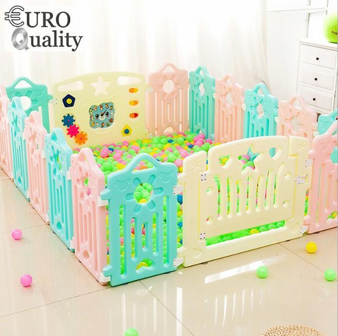 Euro Quality Quây Cũi Nhựa Pe Cao Cấp Play&happy 10+2 (1.2x1.54)m By Euro Quality.