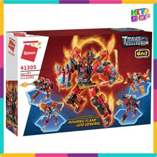 Bộ Đồ Chơi Xếp Hình Thông Minh Lego Qman 1201 Mảnh Ghép Robot Red Soldier 41301-41305 Cho Trẻ Từ 6 Tuổi thumbnail