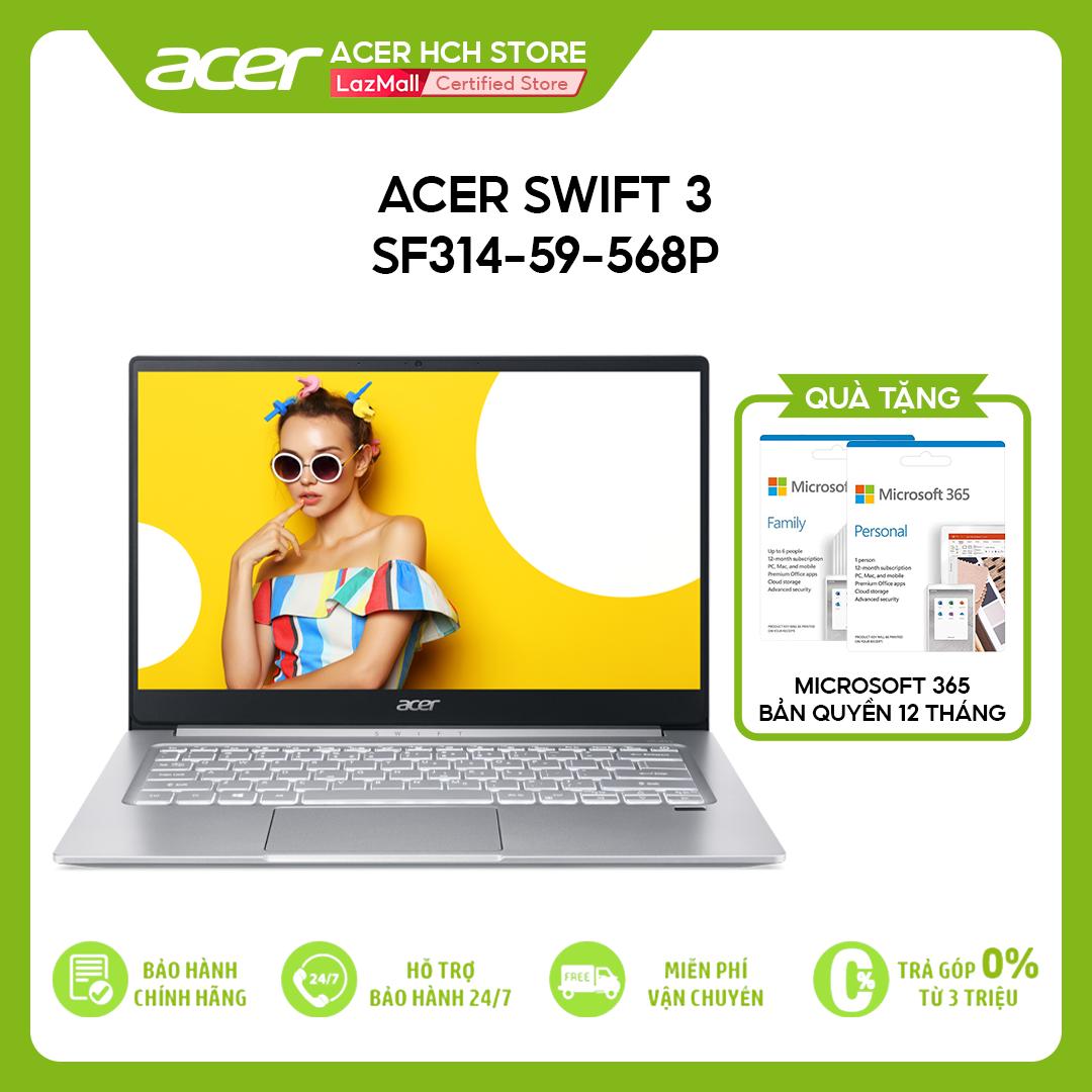"[VOUCHER 10% từ 27-29.03] Laptop Acer Swift 3 SF314-59-568P (i5-1135G7   8GB   1TB   Intel Iris Xe Graphics   14"" FHD   Win 10)"