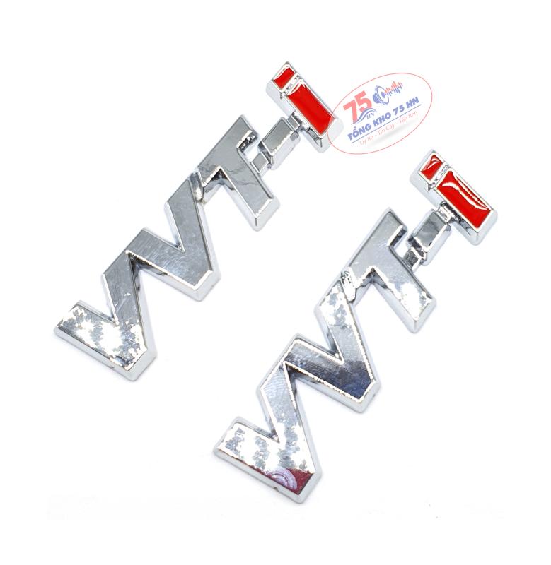 Tem logo chữ VVT-i nổi 3D hợp kim trang trí xe hơi ô tô Toyota Innova, Fortuner, Vios