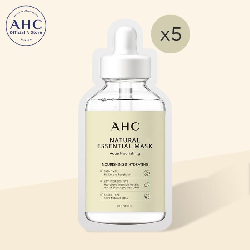 Mặt nạ AHC Natural Essential Mask Aqua Nourishing 28g x 5 miếng