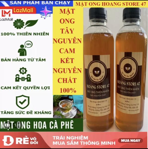 Mật Ong Rừng Tây Nguyên 1 Lít = 2 chai 500ml (thương hiệu HOANG STORE 47 ) - Loại cao cấp dùng tốt cho sức khỏe